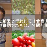 保育園の食育活動の取り組みの事例やねらい、年間計画について